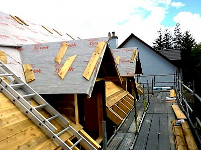 New Build Timber frame kit erected in connel