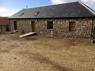 Barn renovation with new solid oak windows and doors