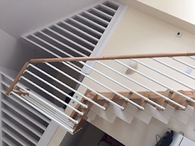 Modular staircase supplied and fitted in barn conversion in inveraray